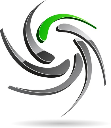 Abstract company symbol. Vector illustration. Stock Vector - 5502005