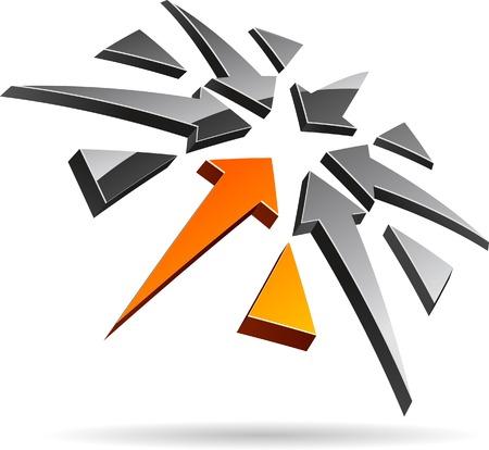 Abstract company symbol. Vector illustration. Stock Vector - 5502002