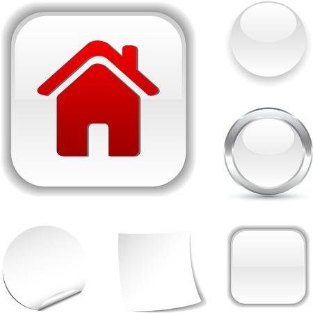 Home white icon. Vector illustration. Stock Vector - 5502034