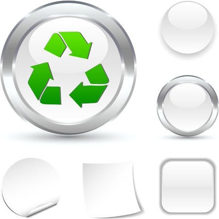 Recycle  white icon. Vector illustration.  Stock Vector - 5502030