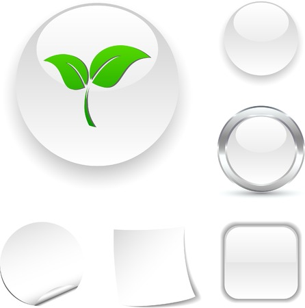 Ecology  white icon. Vector illustration.  Stock Vector - 5502008