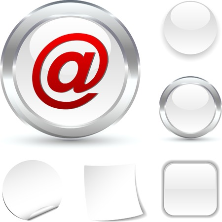 arroba: Arroba white icon. Vector illustration.