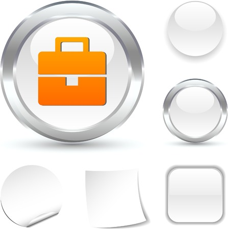 Bag white icon. Vector illustration.  Vector