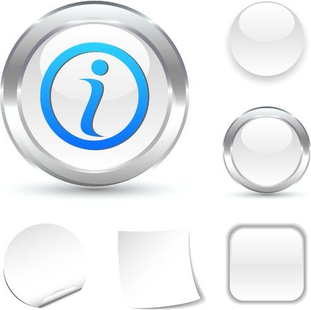 Info white icon. Vector illustration. Stock Vector - 5509054