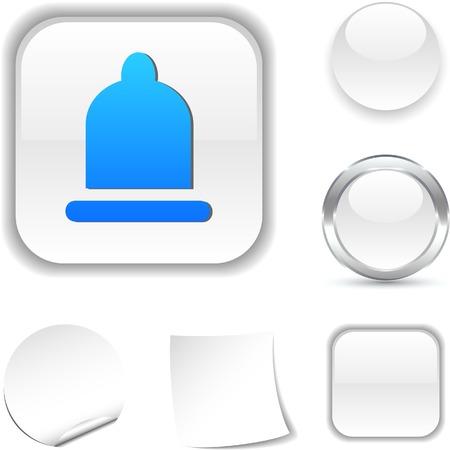 Condom  white icon. Vector illustration. Stock Vector - 5509059