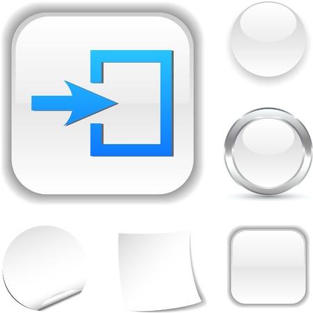 Entrance white icon. Vector illustration. Stock Vector - 5526011