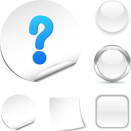 Question white icon. Vector illustration. Stock Vector - 5526006