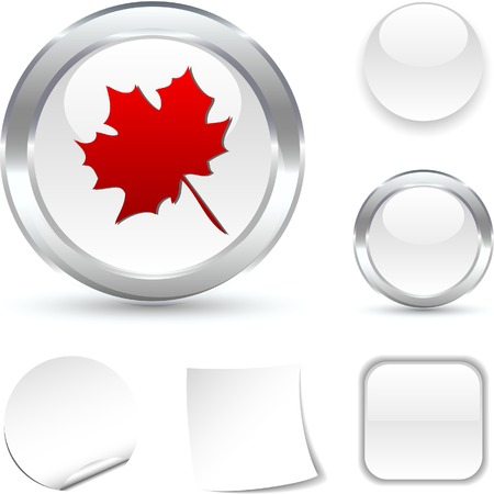 Autumn white icon. Vector illustration.  Stock Vector - 5526010