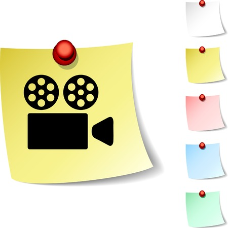 drawingpin: Cinema sheet icon. Vector illustration.