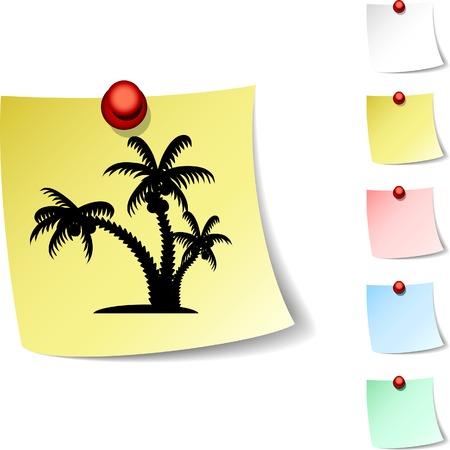 tropical  sheet icon. Vector illustration.  Stock Vector - 5532954