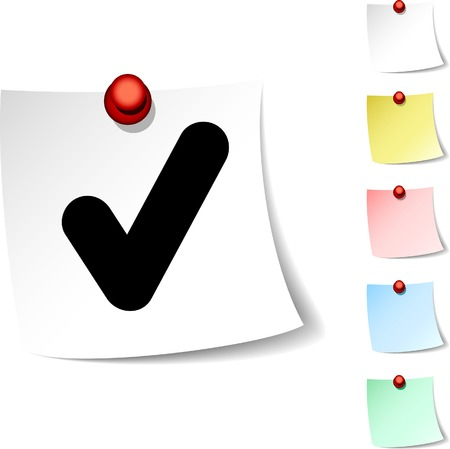 Check sheet icon. Vector illustration.  Stock Vector - 5531872