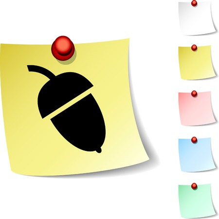 Acorn sheet icon. Vector illustration.  Vector