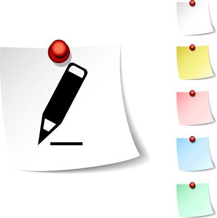 Pencil sheet icon. Vector illustration. Stock Vector - 5531880