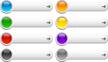 Web shiny buttons. Vector illustration. Stock Vector - 5549578
