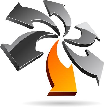 Abstract company symbol. Vector illustration. Stock Vector - 5549584