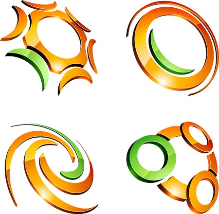 Abstract company symbols. Vector illustration. Stock Vector - 5549609