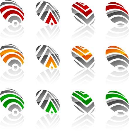 Abstract company symbols. Vector illustration. Stock Vector - 5549612
