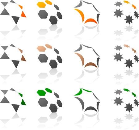 Abstract company symbols. Vector illustration. Stock Vector - 5549606