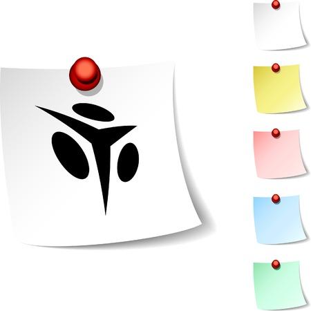Abstract  sheet icon. Vector illustration.  Stock Vector - 5554210