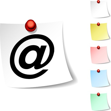 arroba: Arroba  sheet icon. Vector illustration.