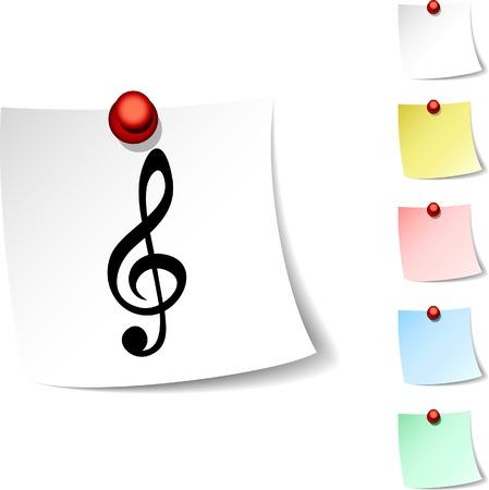 Clef  sheet icon. Vector illustration.  Vector