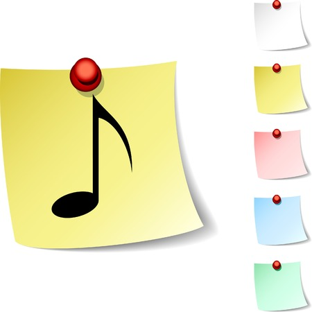 music sheet:  Music sheet icon. Vector illustration.  Illustration