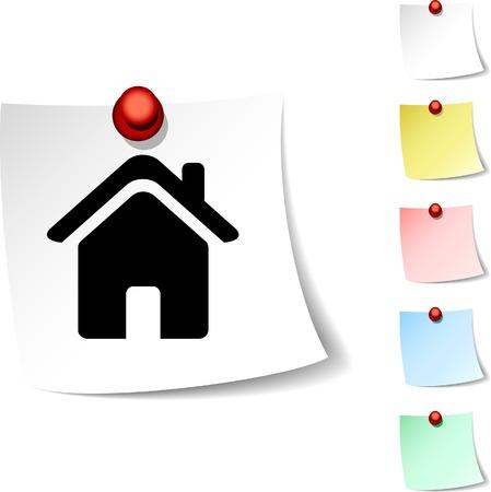Icona Home foglio. Vector illustration. Archivio Fotografico - 5554212