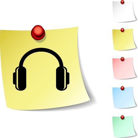 headphones sheet icon. Vector illustration.  Vector