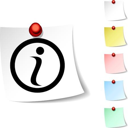 Info sheet icon. Vector illustration.  Stock Vector - 5560269
