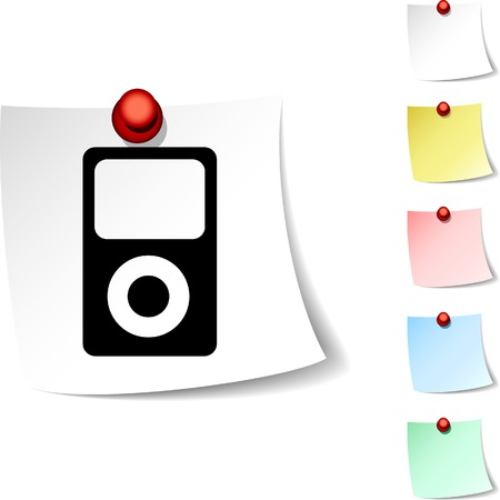Media  sheet icon. Vector illustration. Stock Vector - 5560265