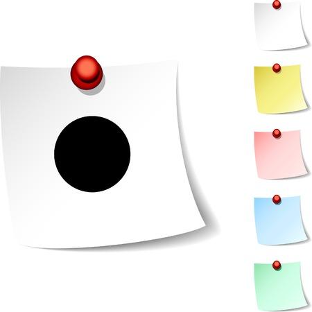 rec: Icona di foglio di registrazione. Illustrazione vettoriale.  Vettoriali