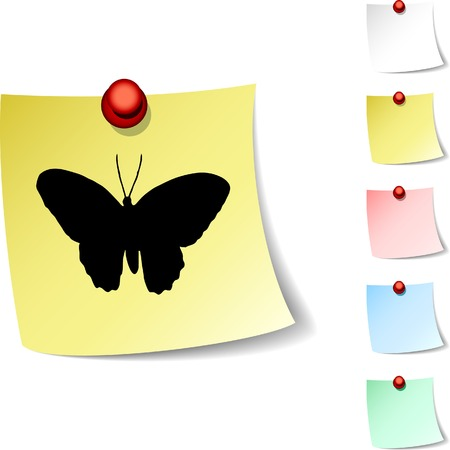 Butterfly  sheet icon. Vector illustration. Stock Vector - 5560314