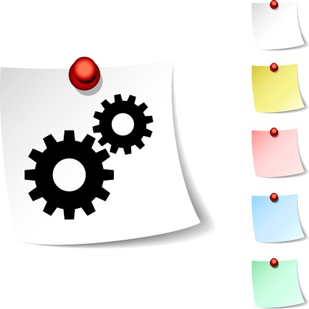 drawingpin: Settings sheet icon. Vector illustration.