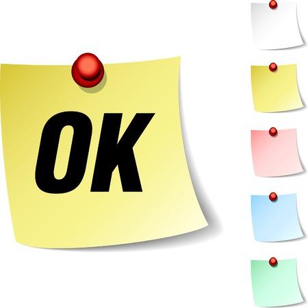 Ok sheet icon. Vector illustration. Stock Vector - 5560316