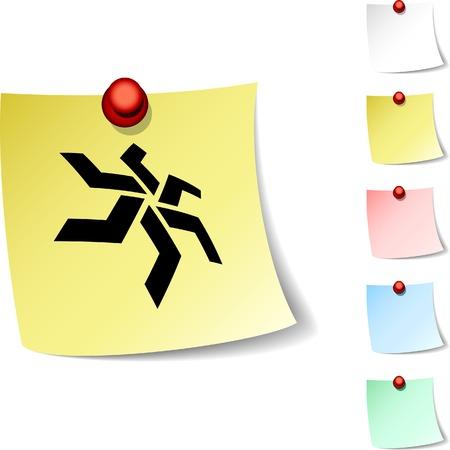 star sheet icon. Vector illustration. Stock Vector - 5560317