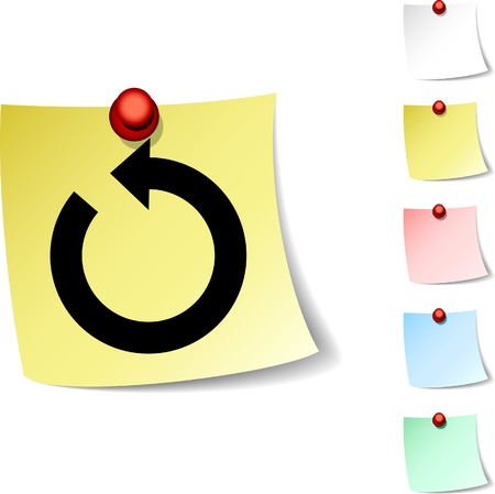 opfrissen: Blad pictogram Vernieuwen. Vector illustratie.