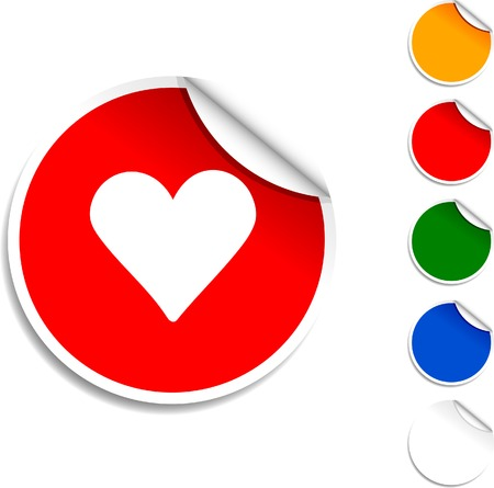 Love sheet icon. Vector illustration.