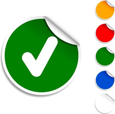 Check  sheet icon. Vector illustration.  Stock Vector - 5573984