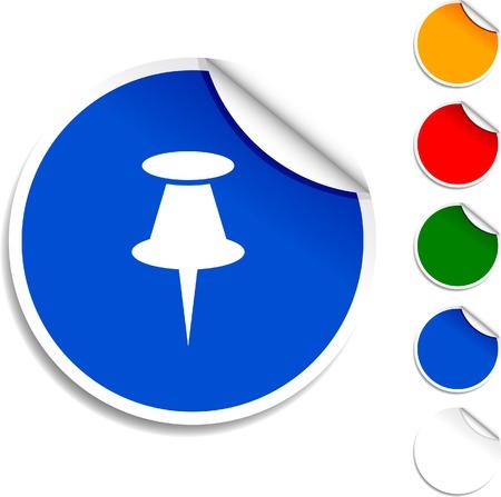 Drawing-pin  sheet icon. Vector illustration. Stock Vector - 5573997
