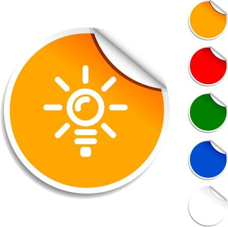 Bulb  sheet icon. Vector illustration.  Illustration