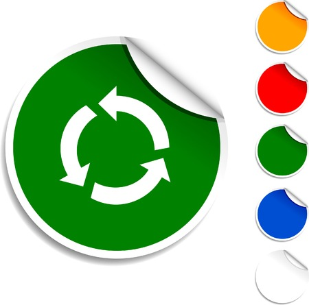 Recycle  sheet icon. Vector illustration.  Vector