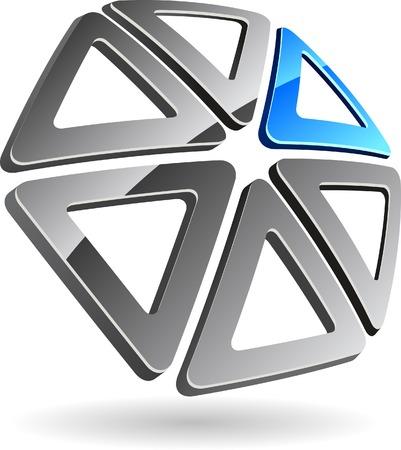 Abstract company symbol. Vector illustration. Stock Vector - 5580787