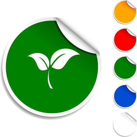 Ecology sheet icon. Vector illustration. Stock Vector - 5594573