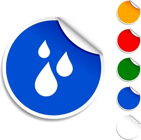 Rain  sheet icon. Vector illustration. Stock Vector - 5594574