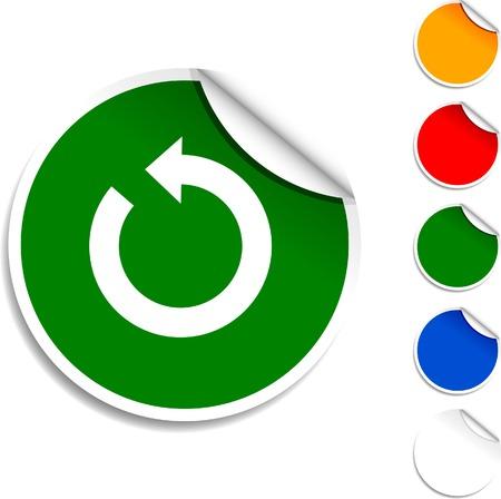 refrescarse: Icono de hoja de actualización. Ilustración del vector. Vectores