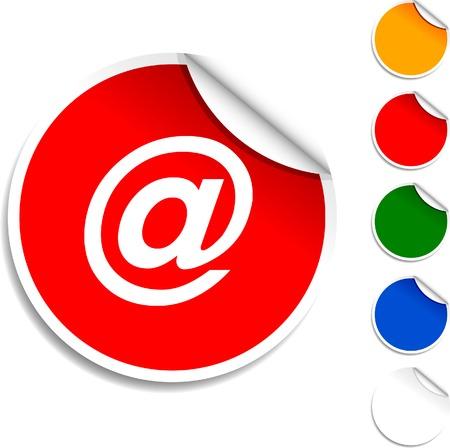 Arroba sheet icon. Vector illustration. Stock Vector - 5594549