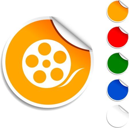 Media  sheet icon. Vector illustration.  Stock Vector - 5594590