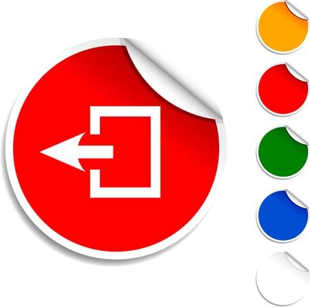 Icono de hoja de salida. Ilustración del vector. Foto de archivo - 5594582