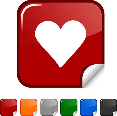 Love sticker icon. Vector illustration.  Vector