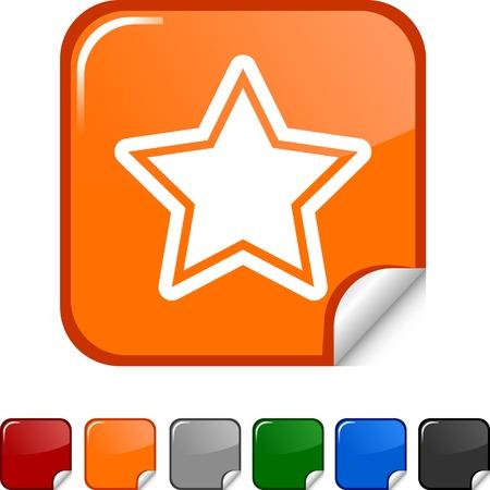 Star  sticker icon. Vector illustration.  Vector